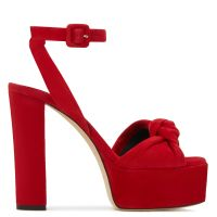 BETTY KNOT - Rot - Plateaupumps