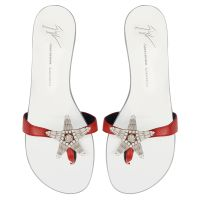 ASTERIA - Rouge - Talons Plats