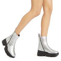 APOCALYPSE ZIP - Silver - Boots