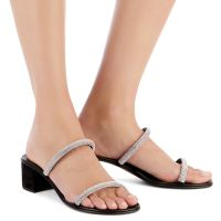 CROISETTE CRYSTAL 50 - Black - Sandals