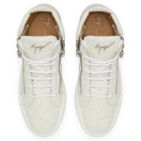 KRISS CROCO - White - Mid top sneakers