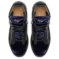 KRISS VELVET - Blue - Mid top sneakers