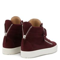 DENNY VELVET - Red - High top sneakers