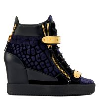 COBY WEDGE - Blue - High top sneakers