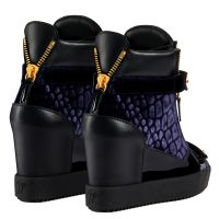 COBY WEDGE - Bleu - Sneakers hautes