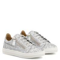 CHERYL GLITTER JR. - Silver - Low top sneakers