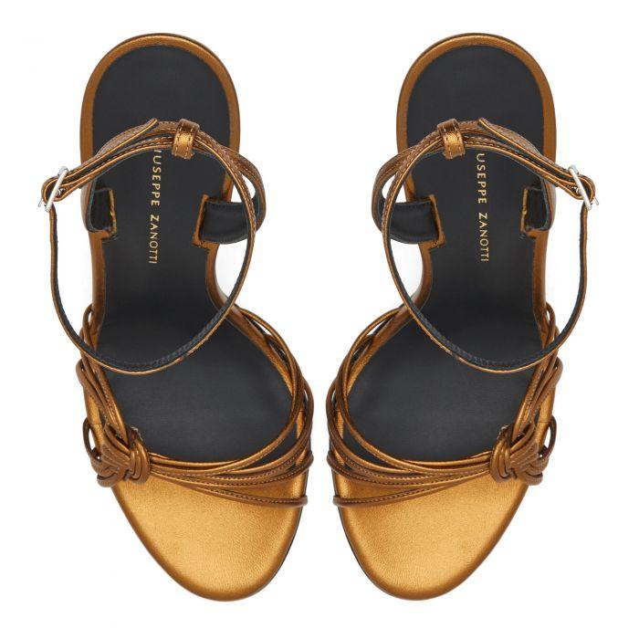 YLENIA - Bronze - Sandals