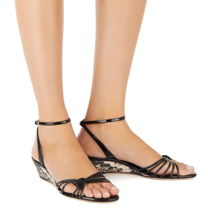 YLENIA MINI WEDGE - Black - Sandals