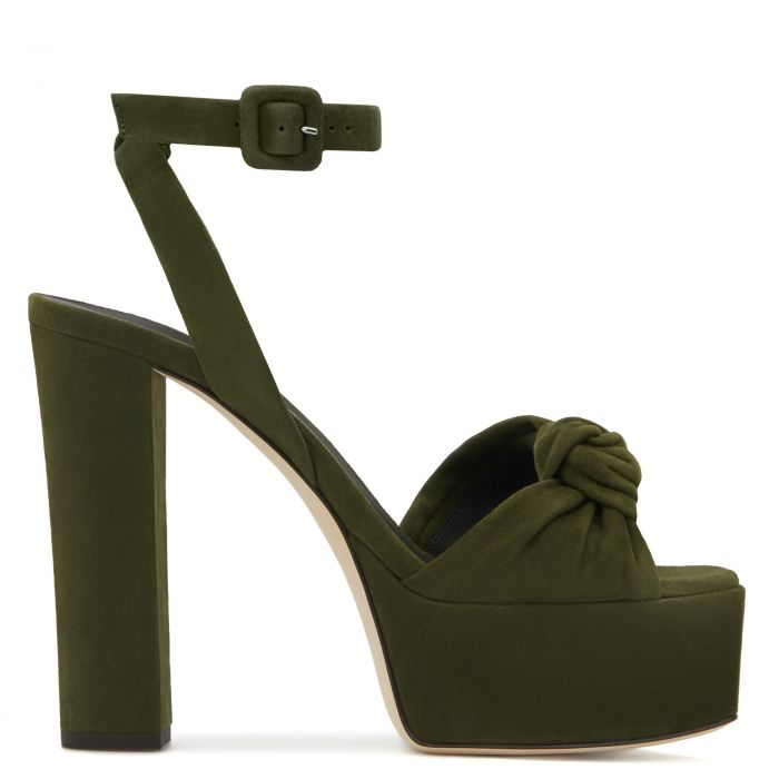 BETTY KNOT - Green - Sandals