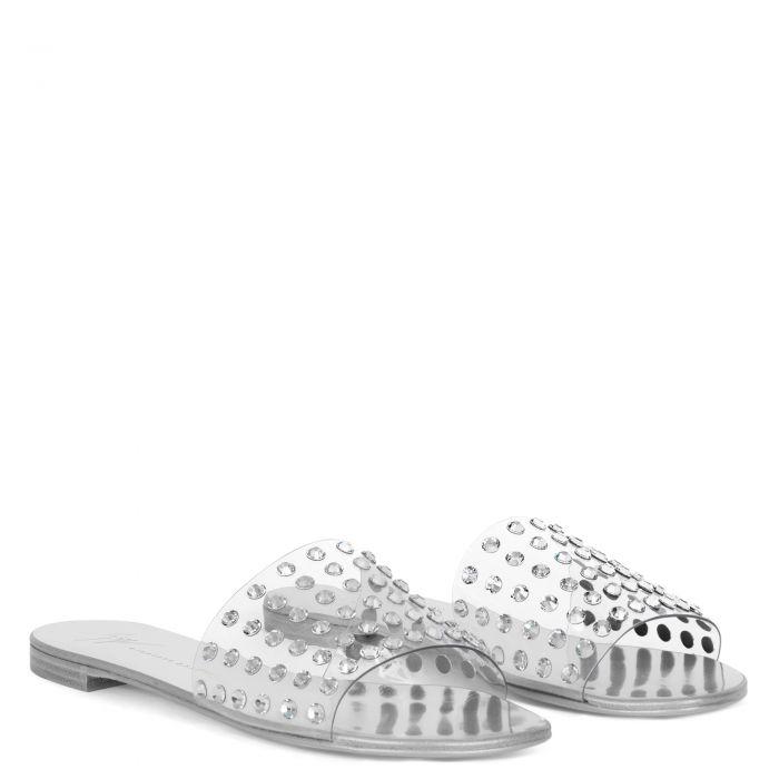 ADELIA VINYL - Silver - Flats