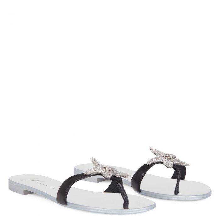 ASTERIA - Schwarz - Flache Schuhe