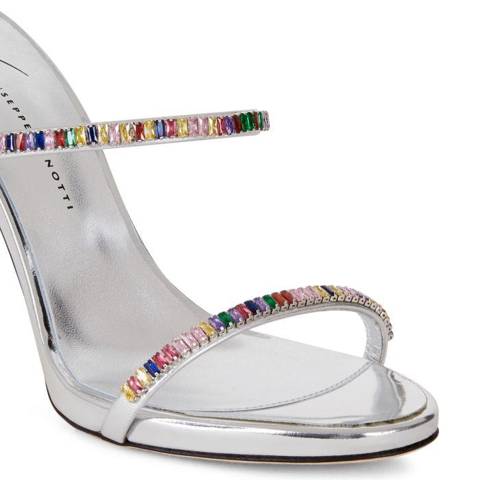 COLORFUL - Silberfarben - Sandalen