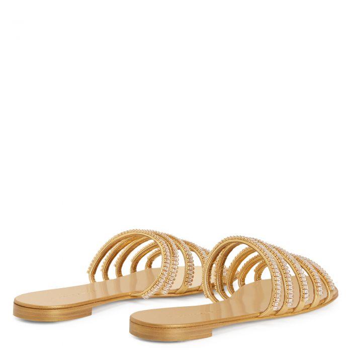 MICHELA - Gold - Flats