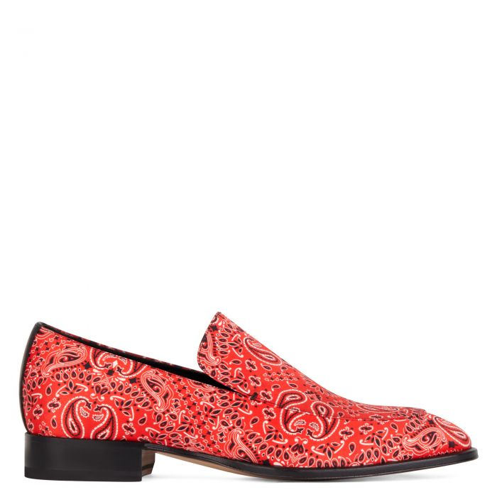 GARRISON PAISLEY - Red - Loafers
