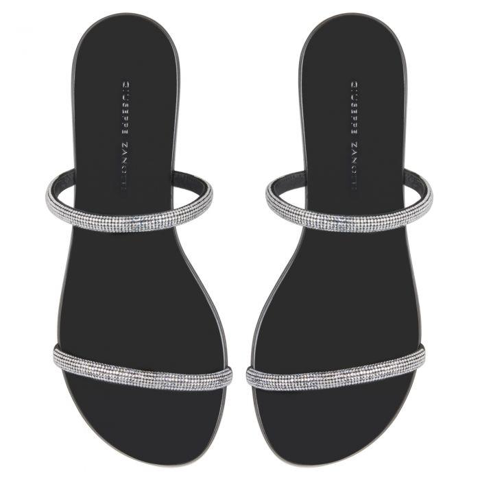 CROISETTE CRYSTAL 50 - Black - Sandals