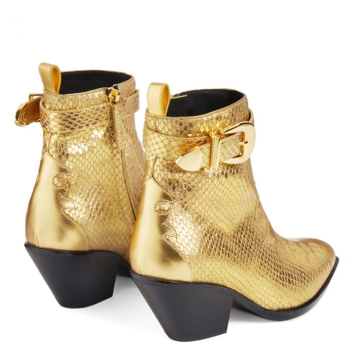 HELENA BUCKLE - Or - Bottes