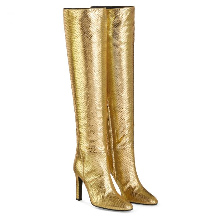 HATTIE - Gold - Boots