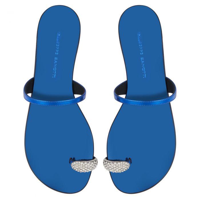 RING - Bleu - Talons Plats