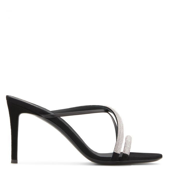 CROISETTE CRYSTAL - Black - Sandals