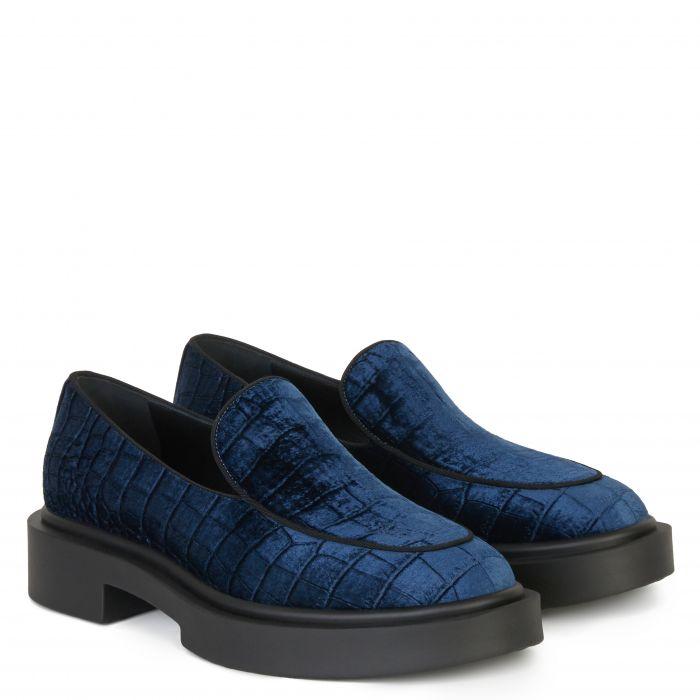 ACHILLE - Blue - Slip ons