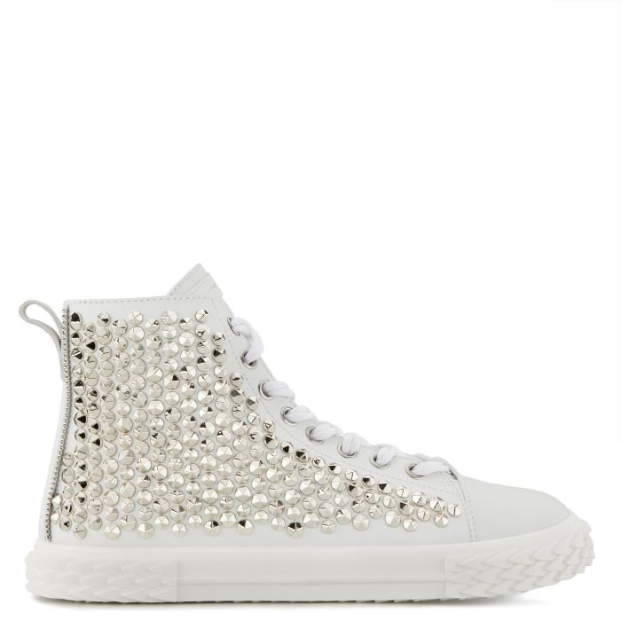 BLABBER - White - Mid top sneakers