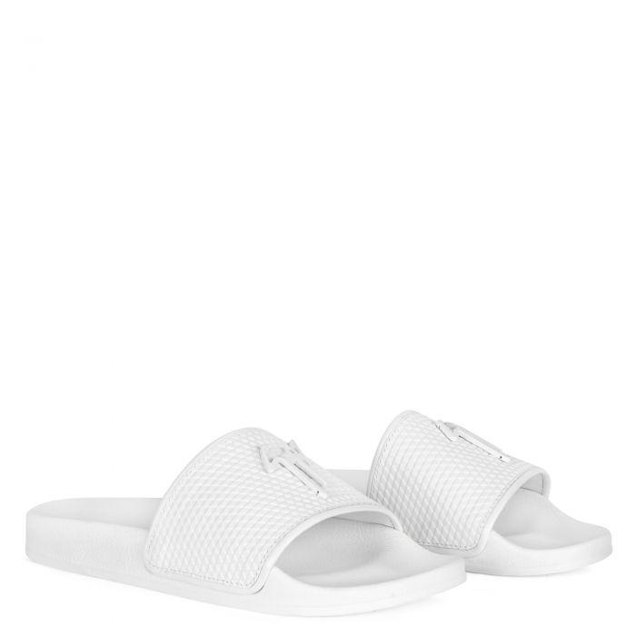 BRETT - Weiss - Flache Schuhe