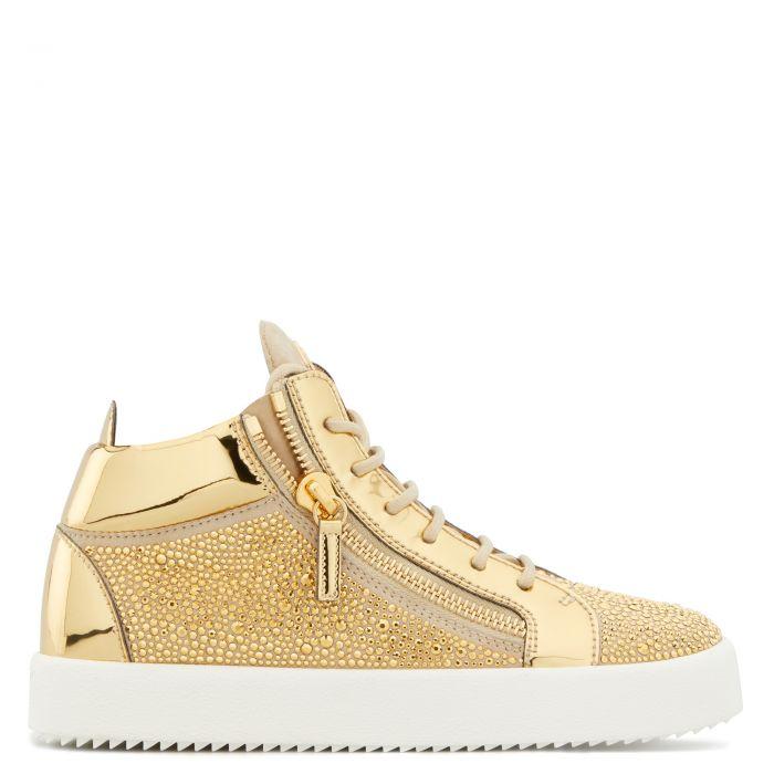 KRISS TWINKLE - Beige - Mid top sneakers