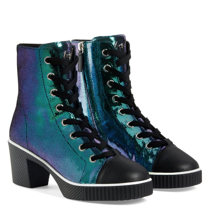 NIDIR - Bleu - Sneakers hautes