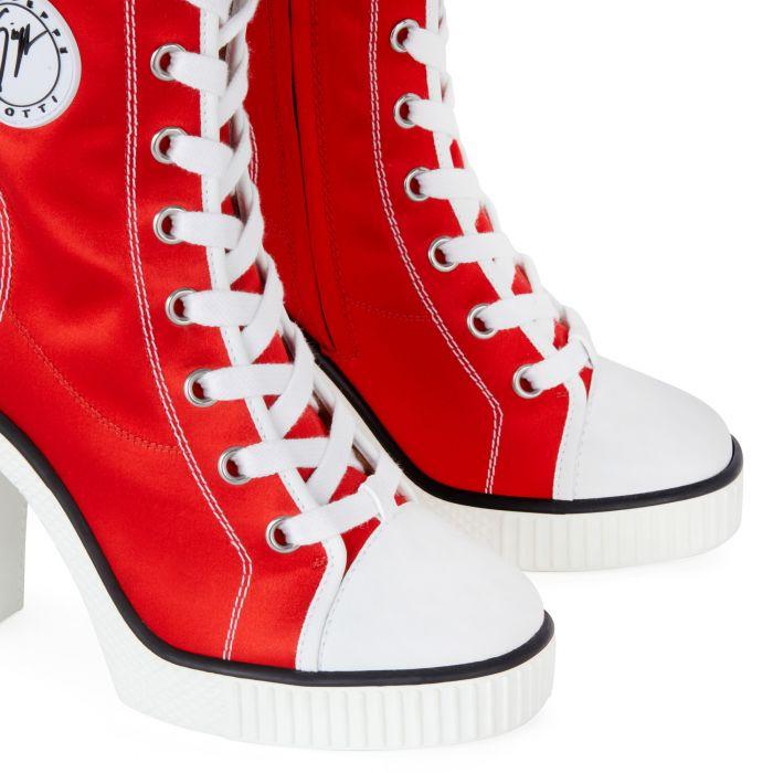 NIDIR - Rouge - Sneakers hautes