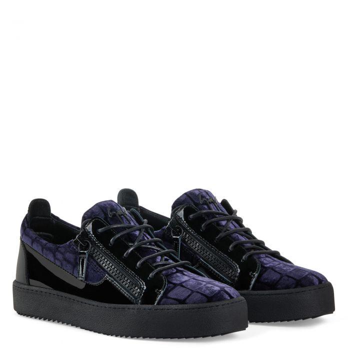 FRANKIE - Bleu - Sneakers basses