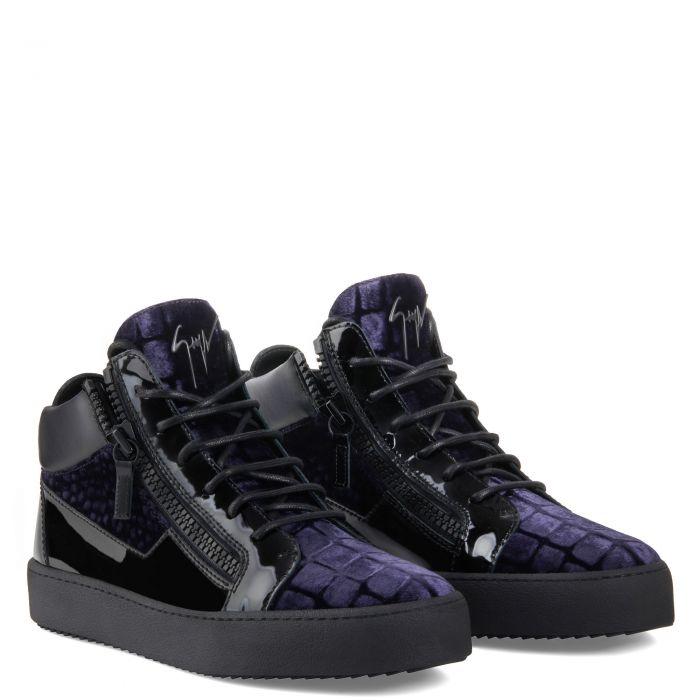 KRISS - Bleu - Sneakers hautes
