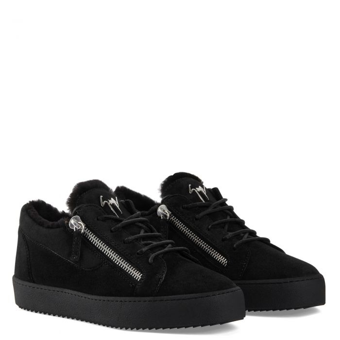 FRANKIE WINTER - Black - Low top sneakers
