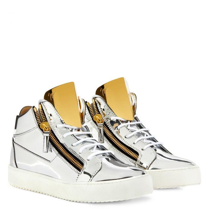 KRISS STEEL - Silver - Mid top sneakers