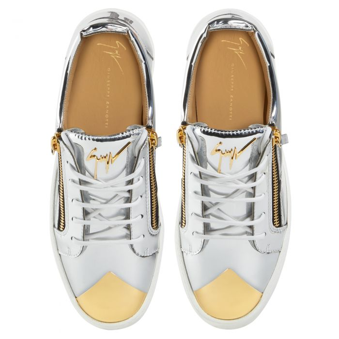 FRANKIE STEEL - Silver - Low top sneakers