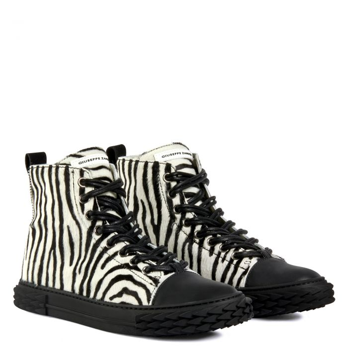 BLABBER - Black and white - Sneakers montante
