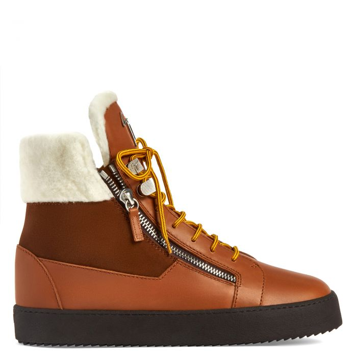 TREK - Brown - High top sneakers