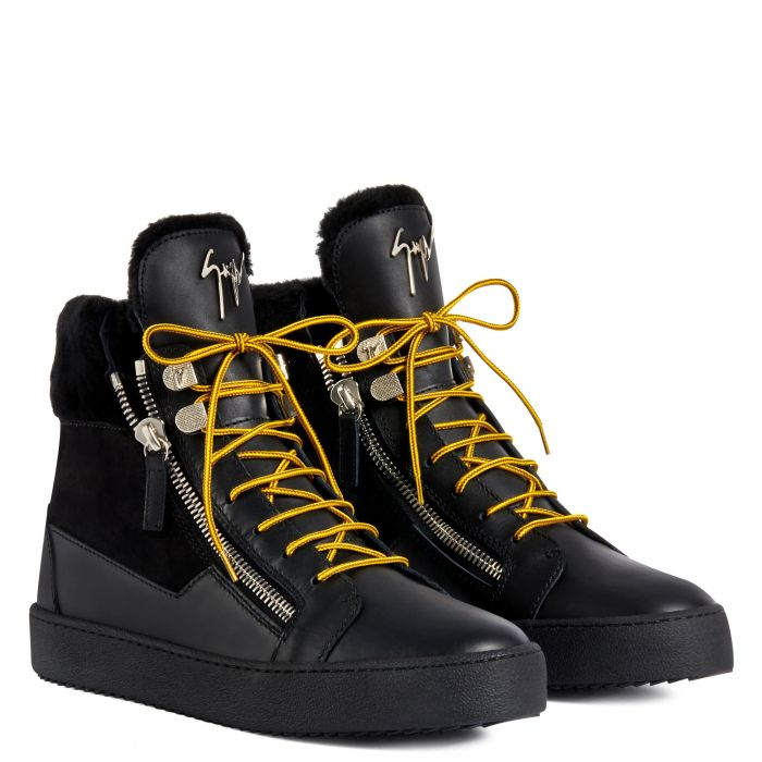 TREK - Black - High top sneakers