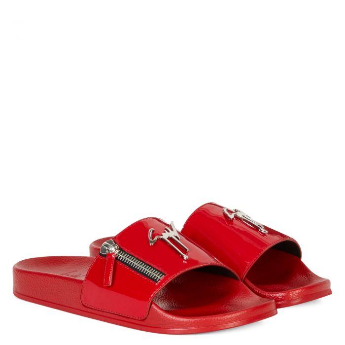 BRETT ZIP - Red - Flats