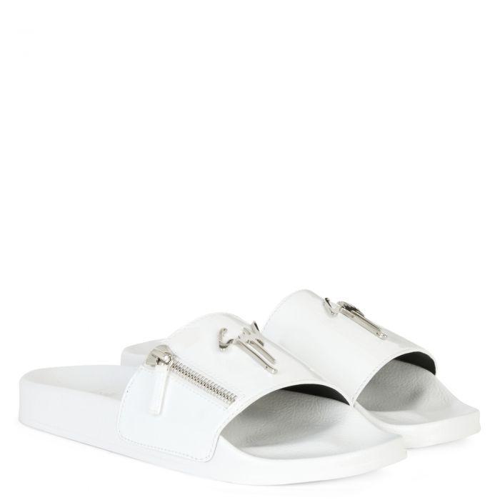 BRETT ZIP - White - Flats