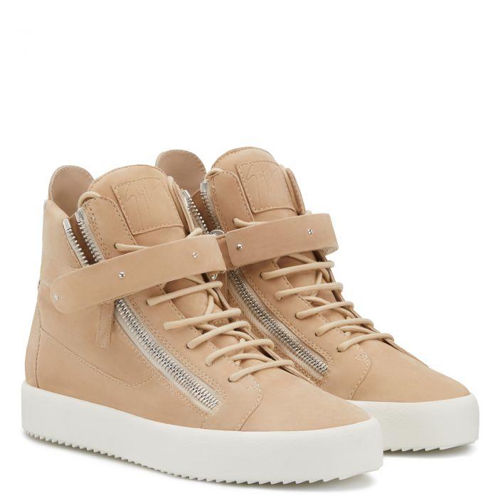 DENNY VELVET - Beige - High top sneakers
