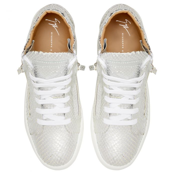 JUSTY - Silver - Mid top sneakers