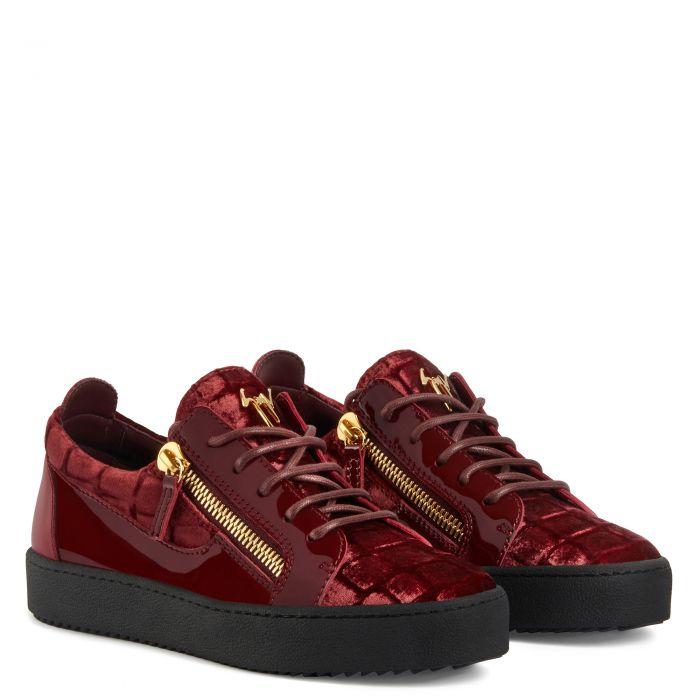 GAIL VELVET - Red - Low top sneakers