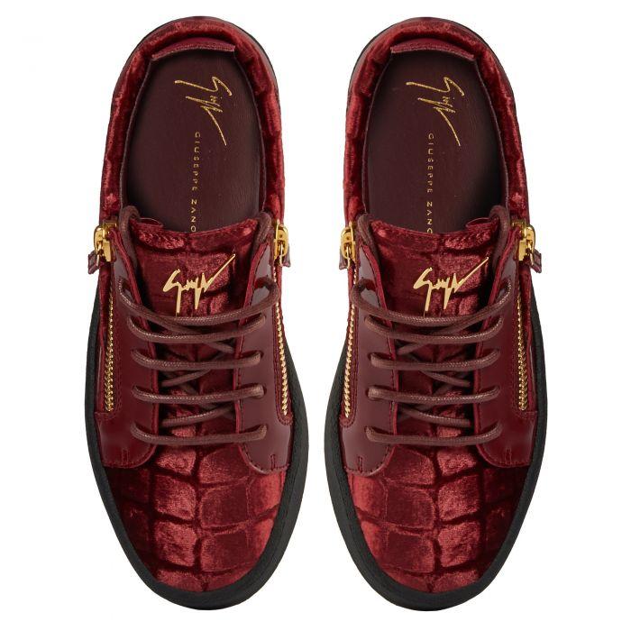 GAIL VELVET - Low top sneakers - Red