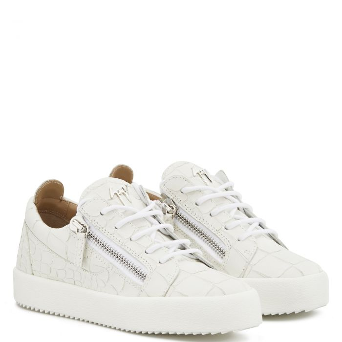 GAIL CROCO - Weiss - Low Top Sneakers