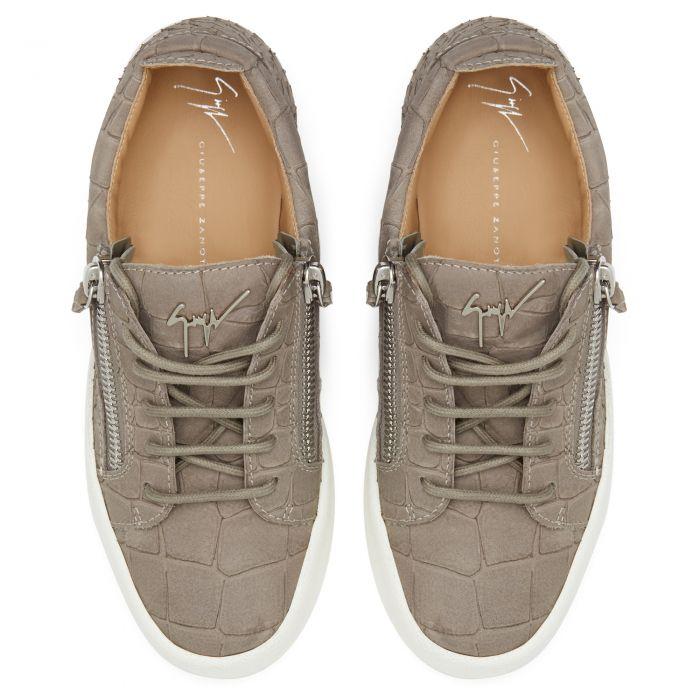 GAIL CROCO - Grey - Low top sneakers