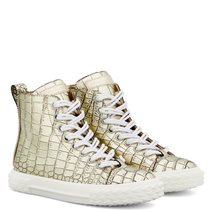 BLABBER - Gold - Mid top sneakers