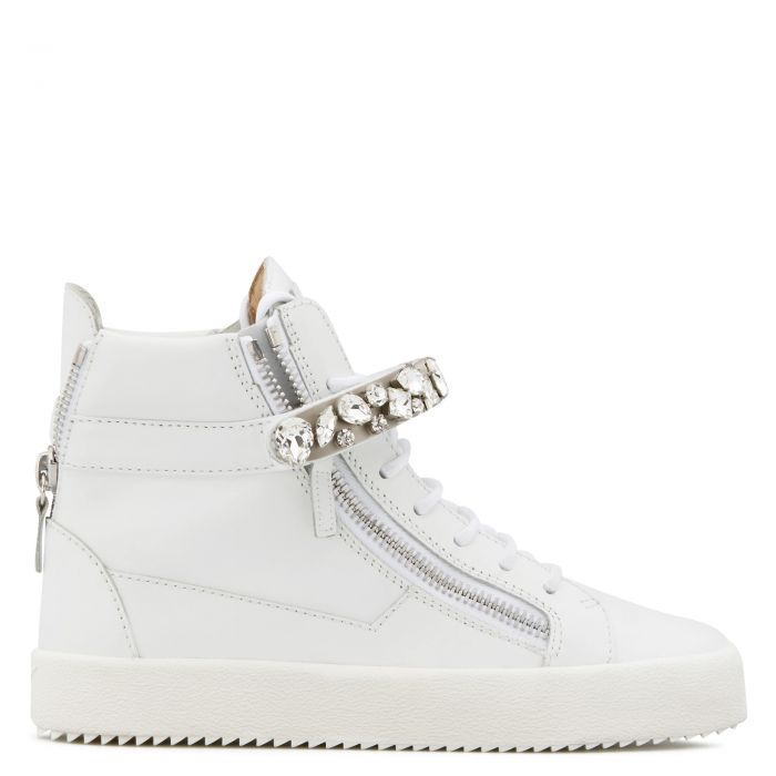 DENNY CRYSTAL - White - High top sneakers