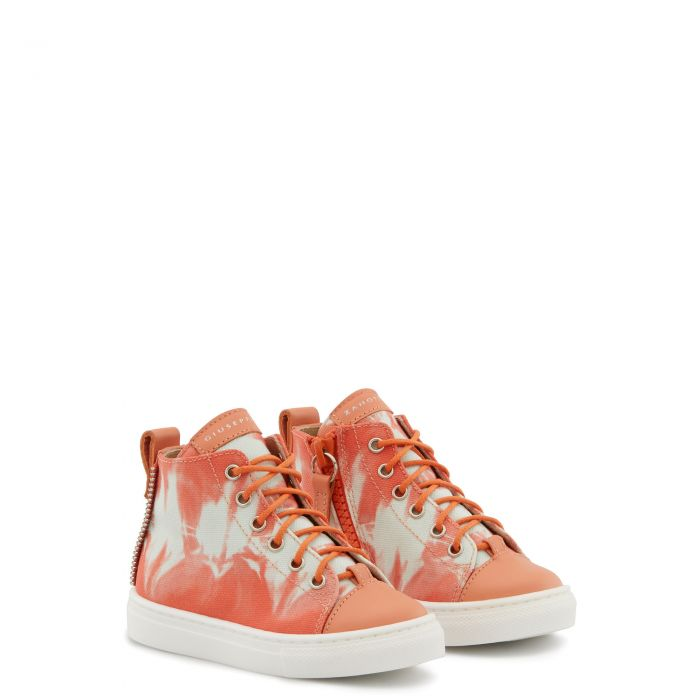 MATTIA - Orange - Mid top sneakers