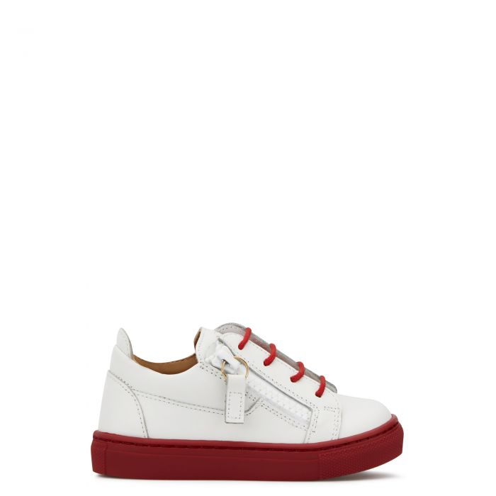 FRANKIE COLOR JR. - White - Low top sneakers
